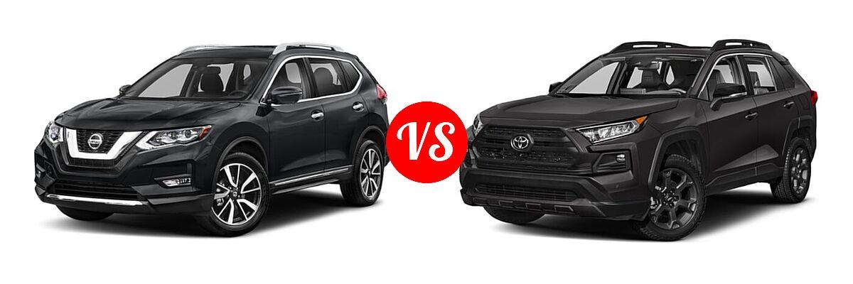 2020 Nissan Rogue SUV SL vs. 2020 Toyota RAV4 SUV TRD Off Road - Front Left Comparison