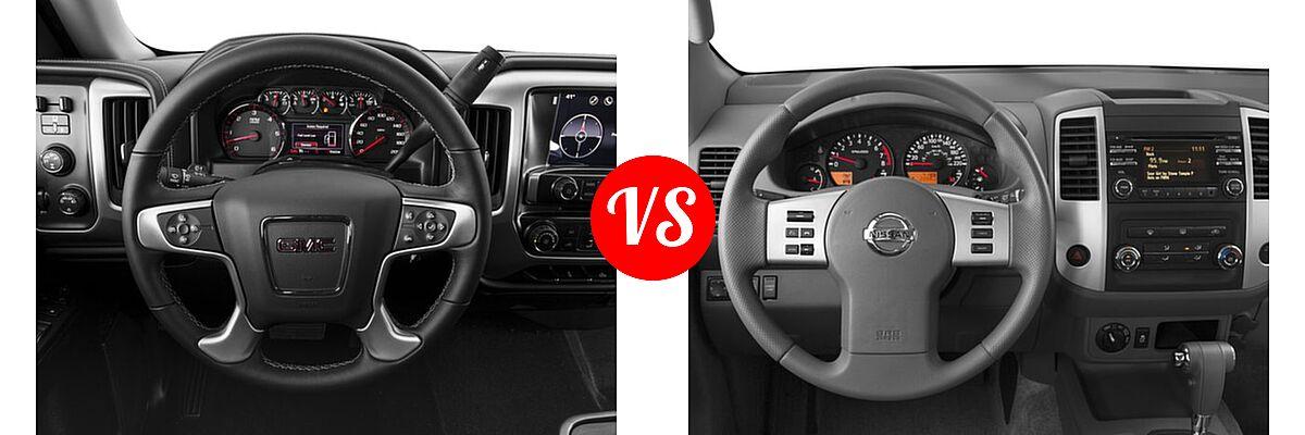 2016 GMC Sierra 1500 Pickup SLE vs. 2016 Nissan Frontier Pickup SV - Dashboard Comparison