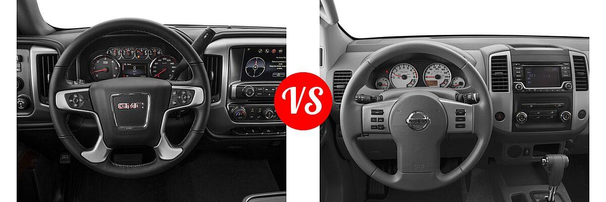 2016 GMC Sierra 1500 Pickup SLE vs. 2016 Nissan Frontier Pickup Desert Runner - Dashboard Comparison