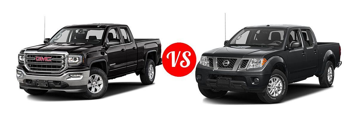 2016 GMC Sierra 1500 Pickup SLE vs. 2016 Nissan Frontier Pickup SV - Front Left Comparison