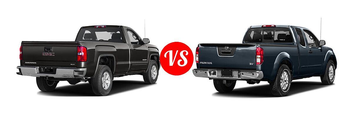 2016 GMC Sierra 1500 Pickup SLE vs. 2016 Nissan Frontier Pickup SV - Rear Right Comparison