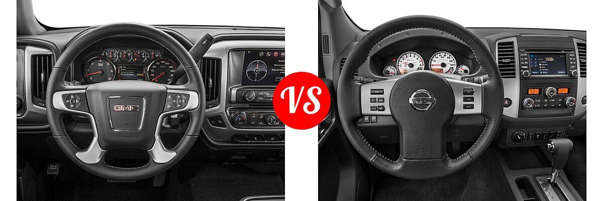 2016 GMC Sierra 1500 Pickup SLE vs. 2016 Nissan Frontier Pickup PRO-4X - Dashboard Comparison