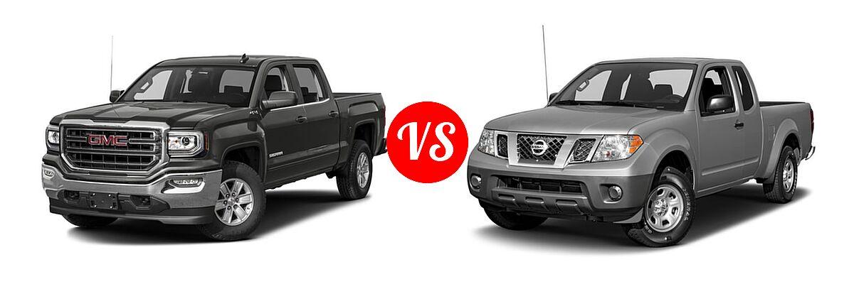 2016 GMC Sierra 1500 Pickup SLE vs. 2016 Nissan Frontier Pickup S - Front Left Comparison