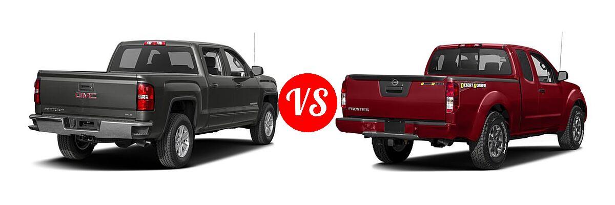 2016 GMC Sierra 1500 Pickup SLE vs. 2016 Nissan Frontier Pickup Desert Runner - Rear Right Comparison