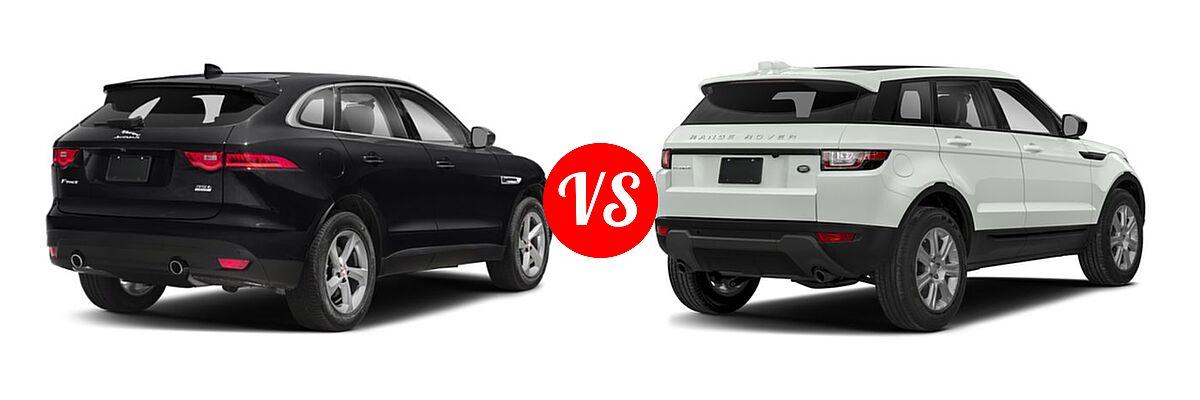 2018 Jaguar F-PACE vs. 2018 Land Rover Range Rover Evoque ...