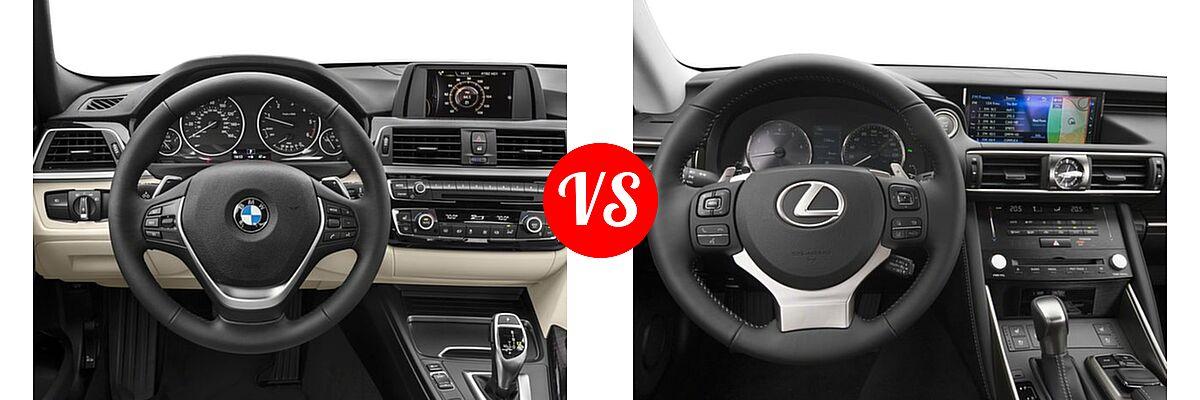 2018 BMW 3 Series Sedan Diesel 328d / 328d xDrive vs. 2018 Lexus IS 350 Sedan IS 350 - Dashboard Comparison