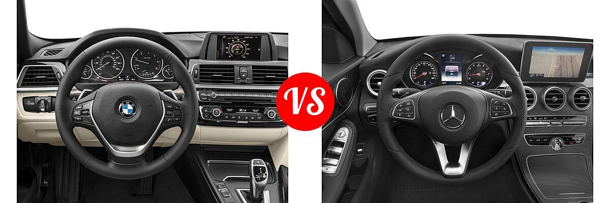 2018 BMW 3 Series Sedan Diesel 328d / 328d xDrive vs. 2018 Mercedes-Benz C-Class Sedan C 300 - Dashboard Comparison