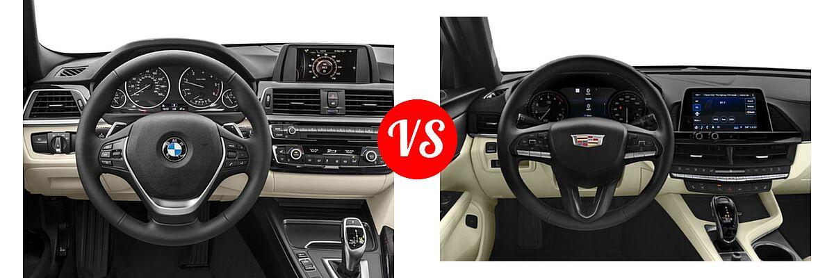 2018 BMW 3 Series Sedan Diesel 328d / 328d xDrive vs. 2021 Cadillac CT4 Sedan Luxury / Premium Luxury / Sport / V-Series - Dashboard Comparison