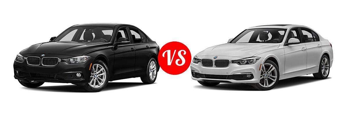 2018 BMW 3 Series Sedan 320i / 320i xDrive vs. 2018 BMW 3 Series Sedan Diesel 328d / 328d xDrive - Front Left Comparison