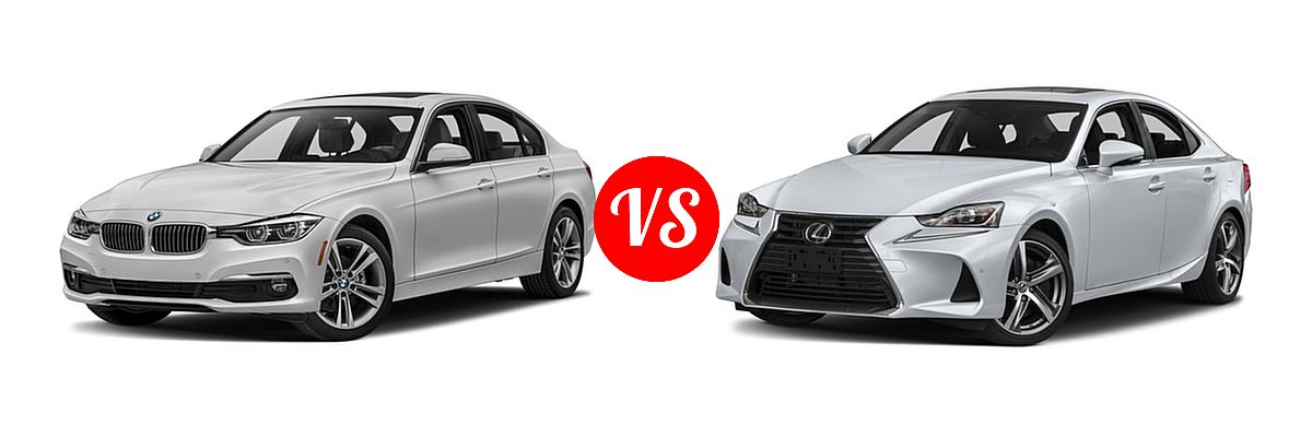 2018 BMW 3 Series Sedan Diesel 328d / 328d xDrive vs. 2018 Lexus IS 350 Sedan IS 350 - Front Left Comparison