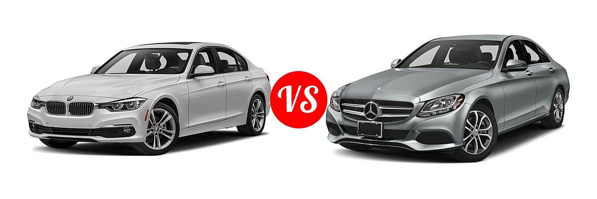 2018 BMW 3 Series Sedan Diesel 328d / 328d xDrive vs. 2018 Mercedes-Benz C-Class Sedan C 300 - Front Left Comparison