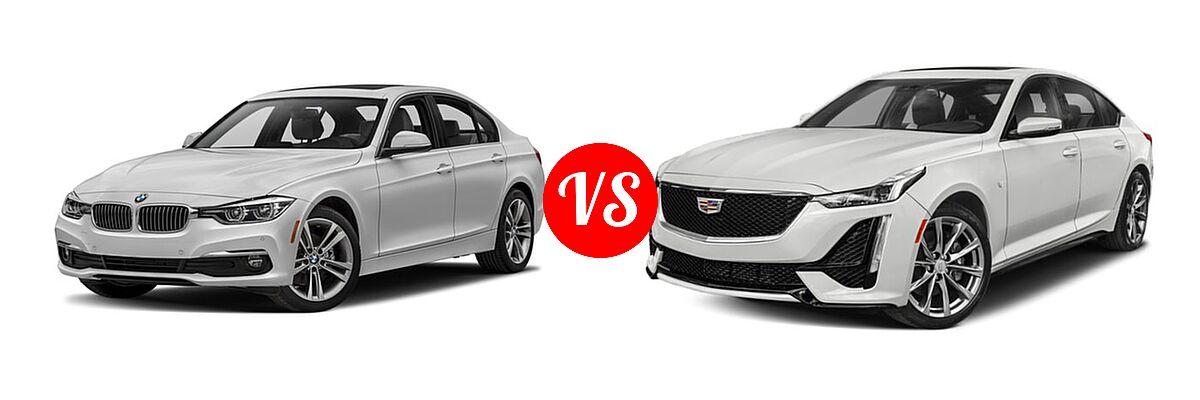 2018 BMW 3 Series Sedan Diesel 328d / 328d xDrive vs. 2020 Cadillac CT5 Sedan Luxury / Premium Luxury / Sport - Front Left Comparison