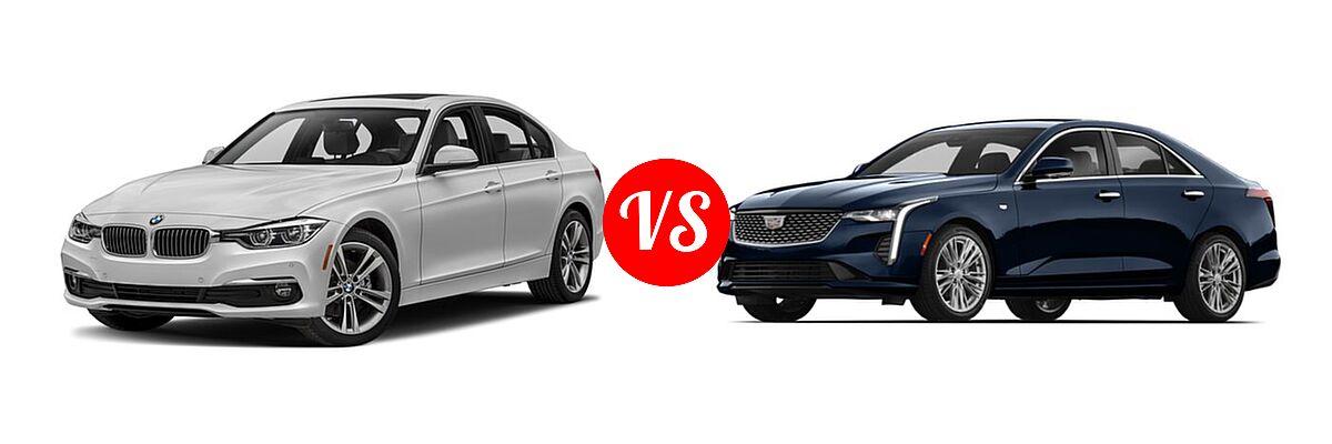 2018 BMW 3 Series Sedan Diesel 328d / 328d xDrive vs. 2020 Cadillac CT4 Sedan Luxury / Premium Luxury / Sport / V-Series - Front Left Comparison