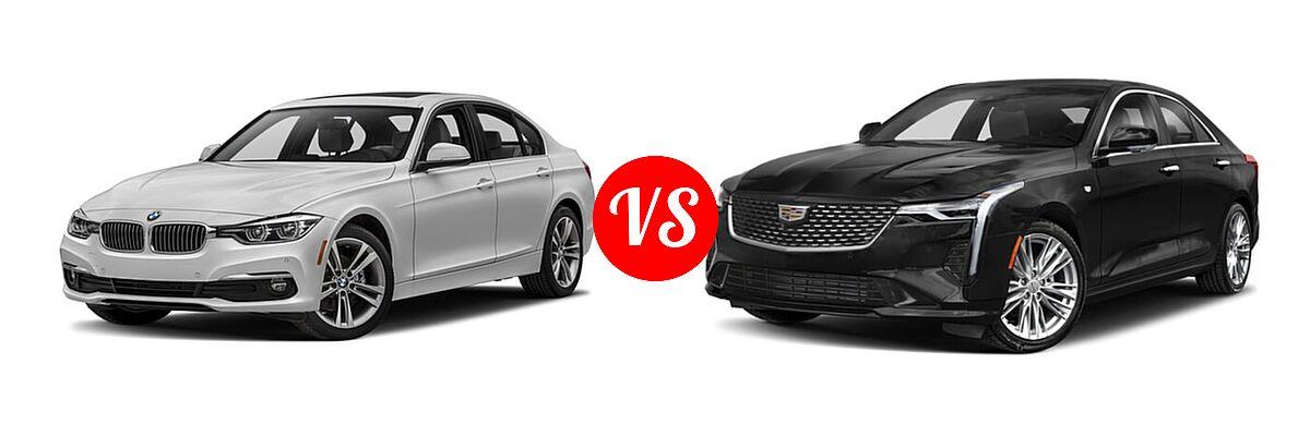 2018 BMW 3 Series Sedan Diesel 328d / 328d xDrive vs. 2021 Cadillac CT4 Sedan Luxury / Premium Luxury / Sport / V-Series - Front Left Comparison