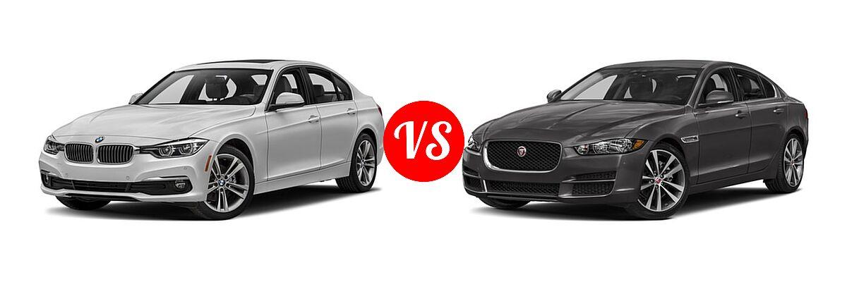 2018 BMW 3 Series Sedan Diesel 328d / 328d xDrive vs. 2018 Jaguar XE Sedan Diesel 20d / 20d Premium / 20d Prestige - Front Left Comparison