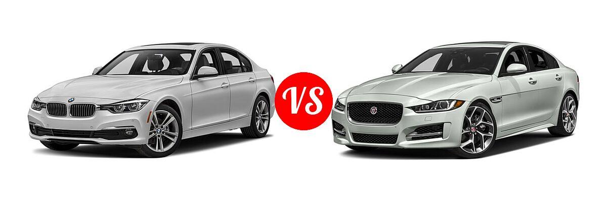 2018 BMW 3 Series Sedan Diesel 328d / 328d xDrive vs. 2018 Jaguar XE Sedan Diesel 20d R-Sport - Front Left Comparison