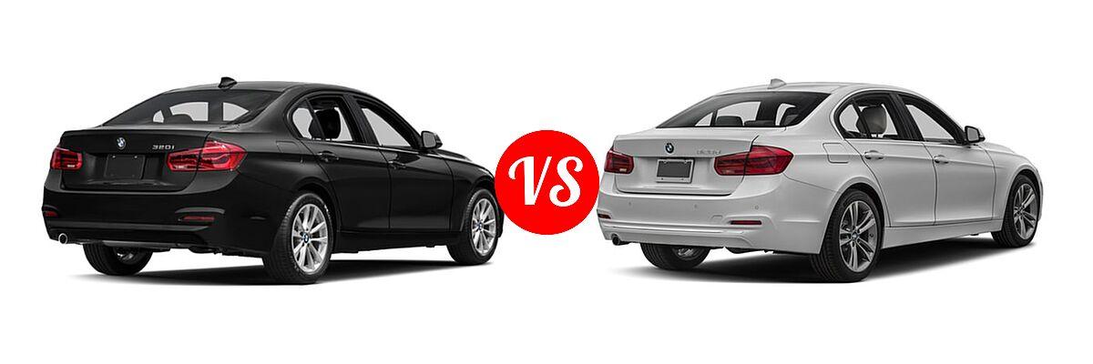 2018 BMW 3 Series Sedan 320i / 320i xDrive vs. 2018 BMW 3 Series Sedan Diesel 328d / 328d xDrive - Rear Right Comparison