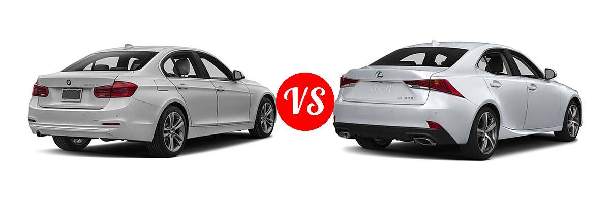 2018 BMW 3 Series Sedan Diesel 328d / 328d xDrive vs. 2018 Lexus IS 350 Sedan IS 350 - Rear Right Comparison