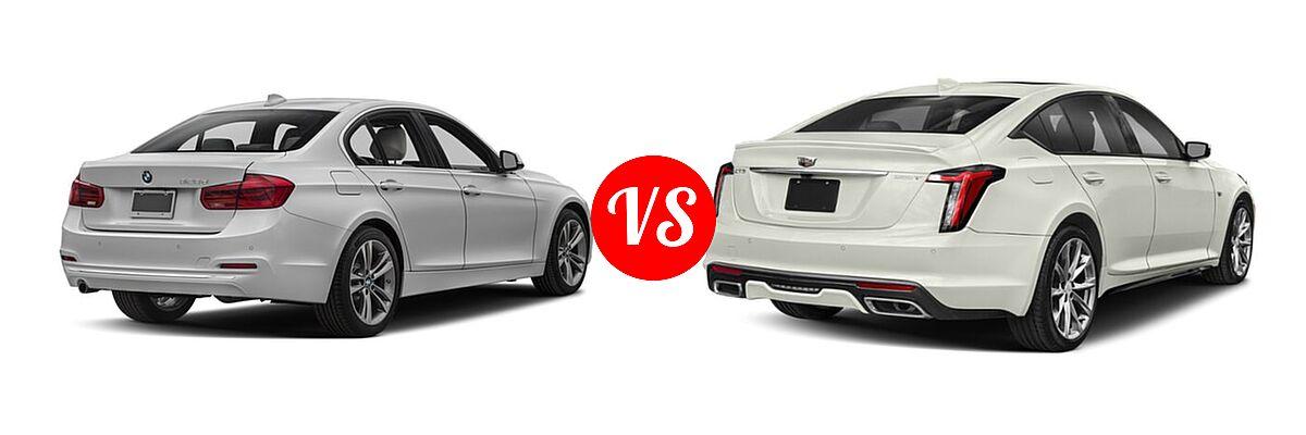2018 BMW 3 Series Sedan Diesel 328d / 328d xDrive vs. 2020 Cadillac CT5 Sedan Luxury / Premium Luxury / Sport - Rear Right Comparison