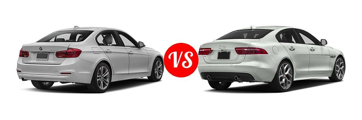 2018 BMW 3 Series Sedan Diesel 328d / 328d xDrive vs. 2018 Jaguar XE Sedan Diesel 20d R-Sport - Rear Right Comparison