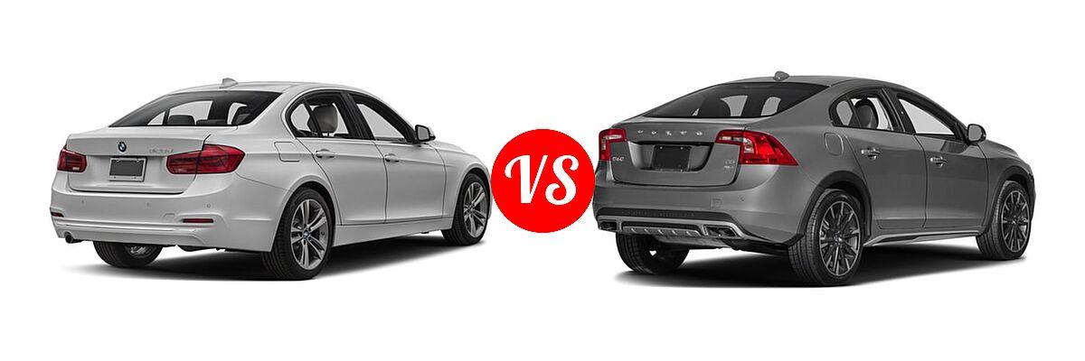 2018 BMW 3 Series Sedan Diesel 328d / 328d xDrive vs. 2018 Volvo S60 Cross Country Sedan T5 AWD - Rear Right Comparison