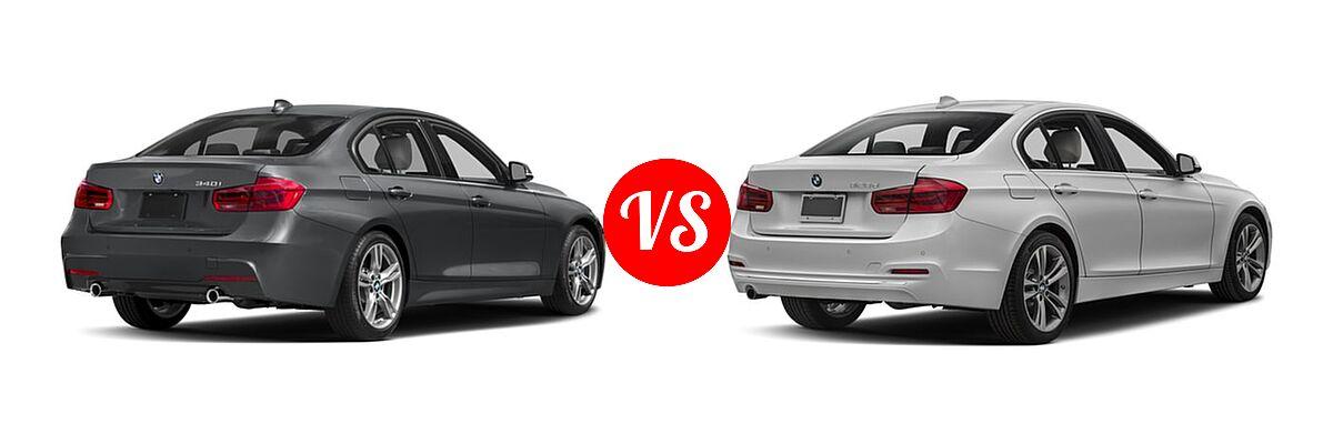 2018 BMW 3 Series Sedan 340i / 340i xDrive vs. 2018 BMW 3 Series Sedan Diesel 328d / 328d xDrive - Rear Right Comparison