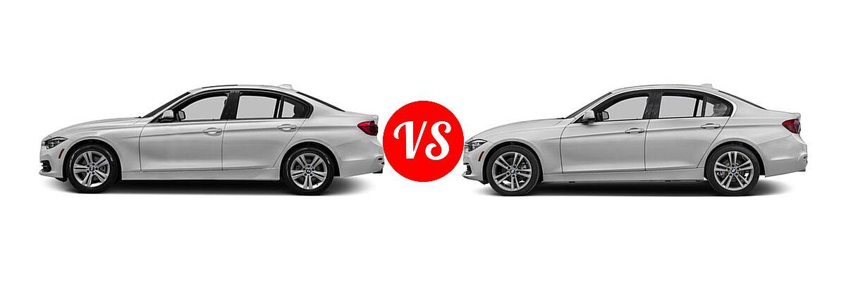 2018 BMW 3 Series Sedan 330i / 330i xDrive vs. 2018 BMW 3 Series Sedan Diesel 328d / 328d xDrive - Side Comparison