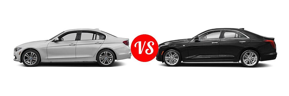 2018 BMW 3 Series Sedan Diesel 328d / 328d xDrive vs. 2021 Cadillac CT4 Sedan Premium Luxury - Side Comparison