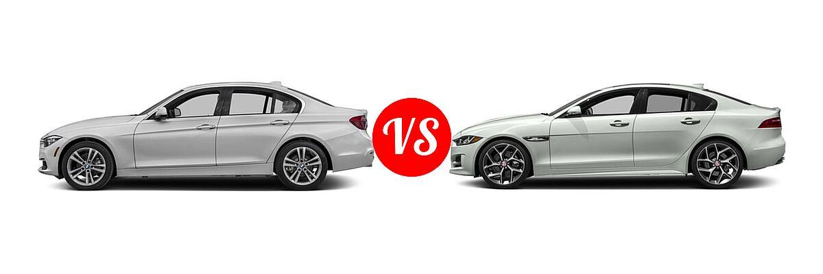 2018 BMW 3 Series Sedan Diesel 328d / 328d xDrive vs. 2018 Jaguar XE Sedan Diesel 20d R-Sport - Side Comparison