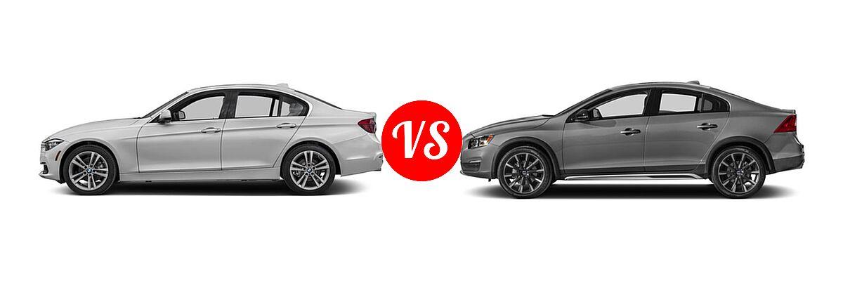 2018 BMW 3 Series Sedan Diesel 328d / 328d xDrive vs. 2018 Volvo S60 Cross Country Sedan T5 AWD - Side Comparison