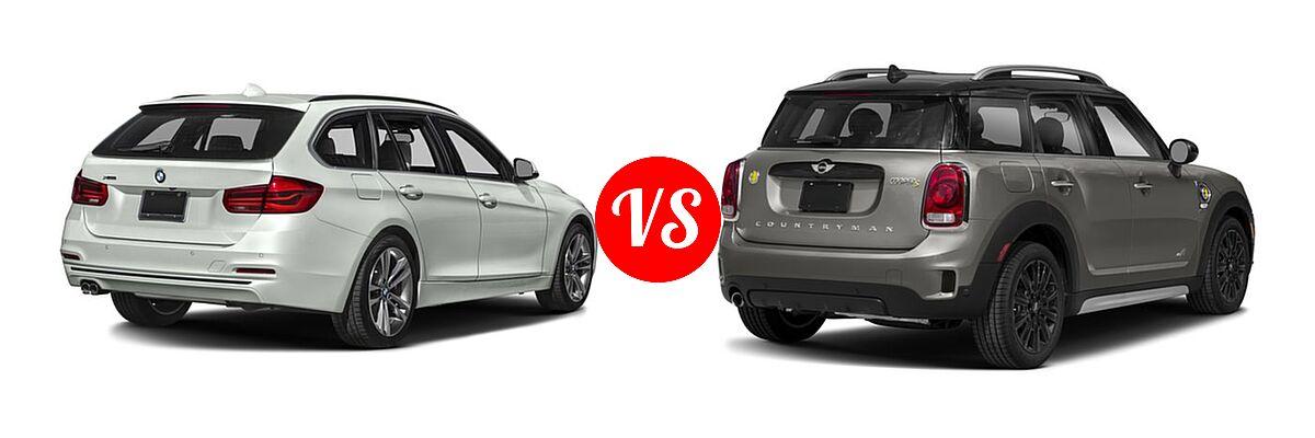 2018 BMW 3 Series Wagon 330i xDrive vs. 2018 MINI Countryman Wagon Hybrid Cooper S E - Rear Right Comparison