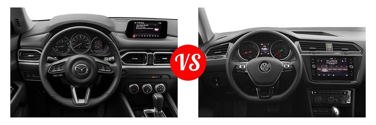 2020 Mazda CX-5 SUV Sport vs. 2020 Volkswagen Tiguan SUV S / SE / SEL - Dashboard Comparison