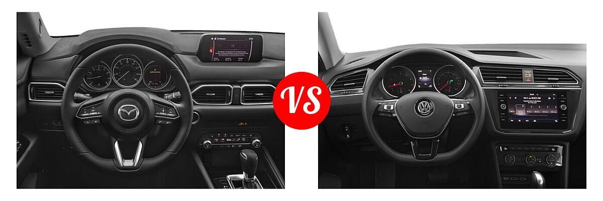 2020 Mazda CX-5 SUV Touring vs. 2020 Volkswagen Tiguan SUV S / SE / SEL - Dashboard Comparison