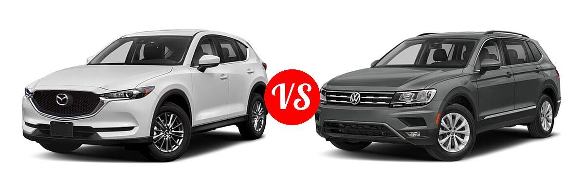 2020 Mazda CX-5 SUV Sport vs. 2020 Volkswagen Tiguan SUV SE R-Line Black / SEL Premium R-Line - Front Left Comparison