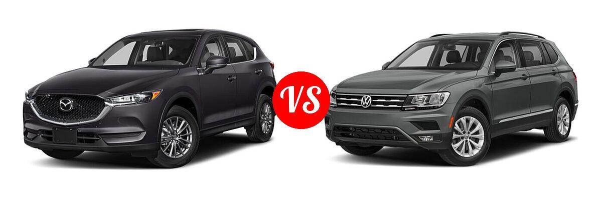2020 Mazda CX-5 SUV Touring vs. 2020 Volkswagen Tiguan SUV SE R-Line Black / SEL Premium R-Line - Front Left Comparison