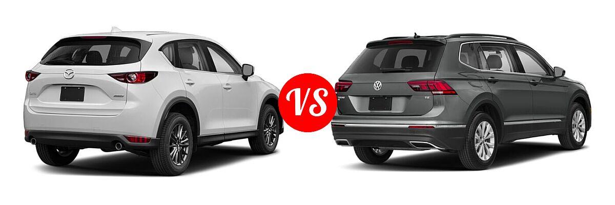 2020 Mazda CX-5 SUV Sport vs. 2020 Volkswagen Tiguan SUV S / SE / SEL - Rear Right Comparison