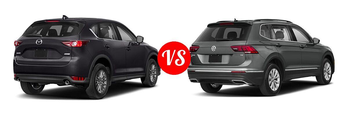 2020 Mazda CX-5 SUV Touring vs. 2020 Volkswagen Tiguan SUV S / SE / SEL - Rear Right Comparison