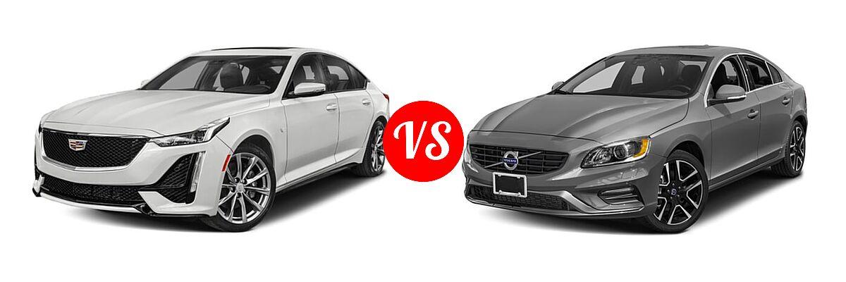 2020 Cadillac CT5 Sedan Luxury / Premium Luxury / Sport vs. 2018 Volvo S60 Sedan Dynamic - Front Left Comparison