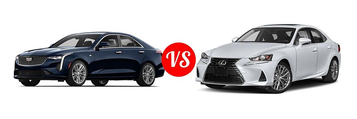 2020 Cadillac CT4 Sedan Luxury / Premium Luxury / Sport / V-Series vs. 2018 Lexus IS 300 Sedan IS 300 - Front Left Comparison