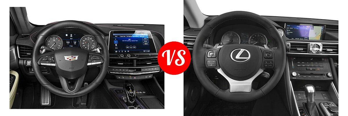 2020 Cadillac CT5 Sedan Luxury / Premium Luxury / Sport vs. 2018 Lexus IS 300 Sedan IS 300 - Dashboard Comparison