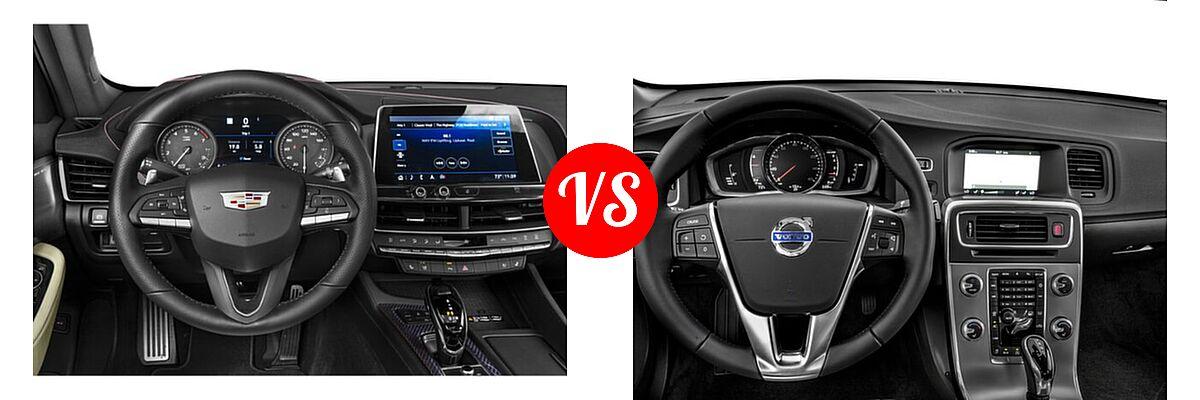 2020 Cadillac CT5 Sedan Luxury / Premium Luxury / Sport vs. 2018 Volvo S60 Sedan Dynamic - Dashboard Comparison