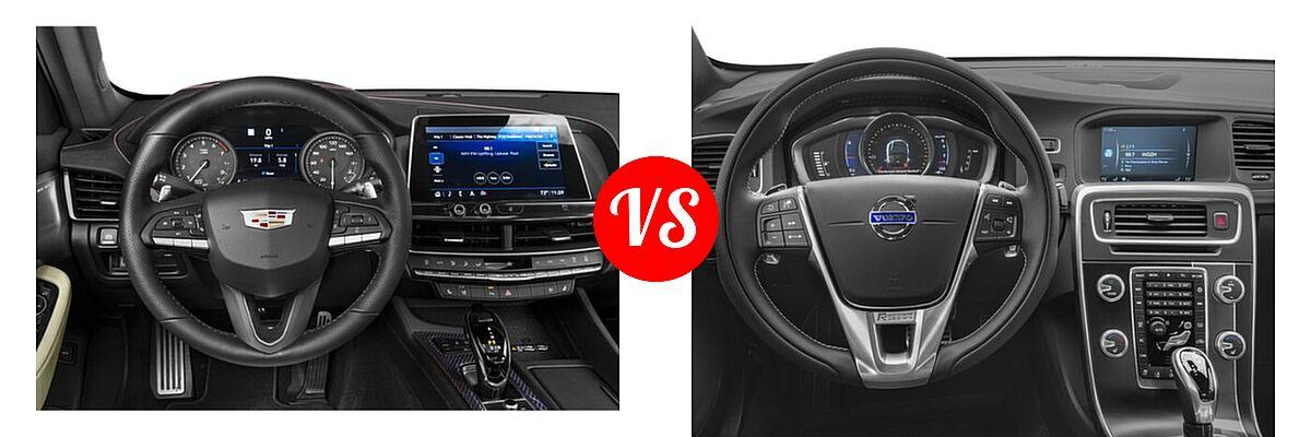 2020 Cadillac CT5 Sedan Luxury / Premium Luxury / Sport vs. 2018 Volvo S60 Sedan R-Design Platinum - Dashboard Comparison