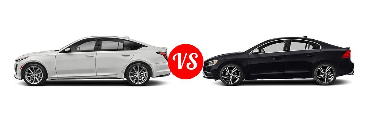 2020 Cadillac CT5 Sedan Luxury / Premium Luxury / Sport vs. 2018 Volvo S60 Sedan R-Design Platinum - Side Comparison