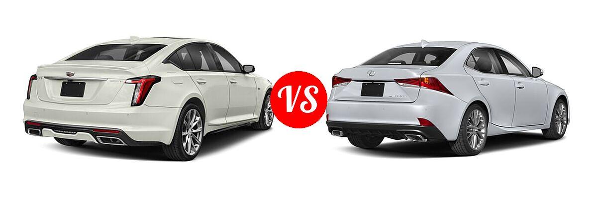 2020 Cadillac CT5 Sedan Luxury / Premium Luxury / Sport vs. 2018 Lexus IS 300 Sedan IS 300 - Rear Right Comparison