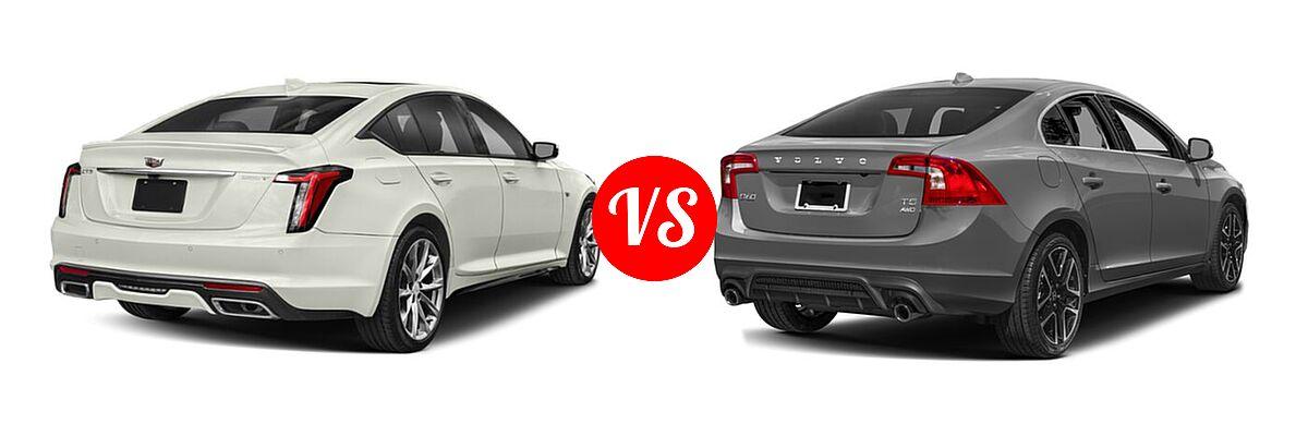 2020 Cadillac CT5 Sedan Luxury / Premium Luxury / Sport vs. 2018 Volvo S60 Sedan Dynamic - Rear Right Comparison