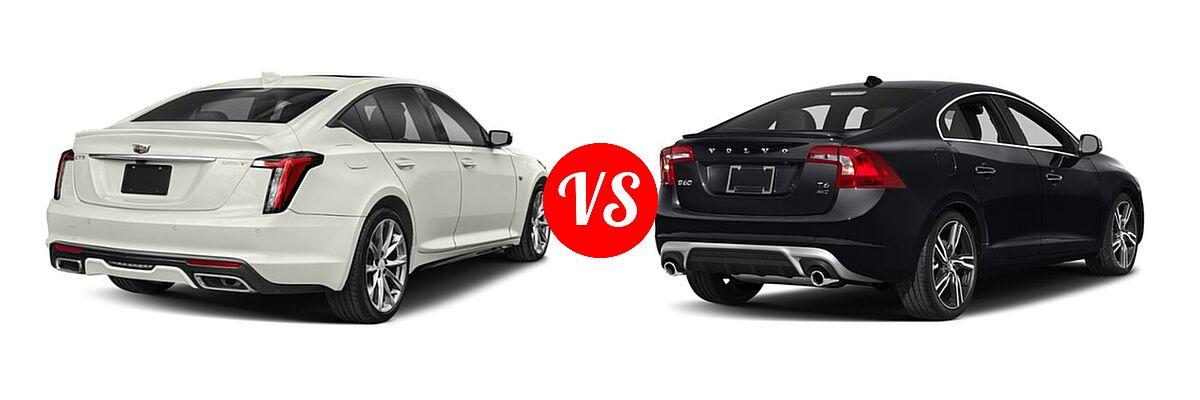 2020 Cadillac CT5 Sedan Luxury / Premium Luxury / Sport vs. 2018 Volvo S60 Sedan R-Design Platinum - Rear Right Comparison