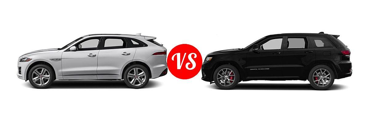 jaguar jeep pace srt cherokee grand suv vs sq5 audi vehie 35t comparison