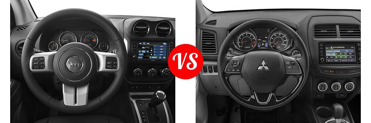 2016 Jeep Compass SUV 75th Anniversary / Latitude / Sport / Sport SE Pkg vs. 2016 Mitsubishi Outlander Sport SUV 2.0 ES / 2.4 ES / 2.4 SE - Dashboard Comparison