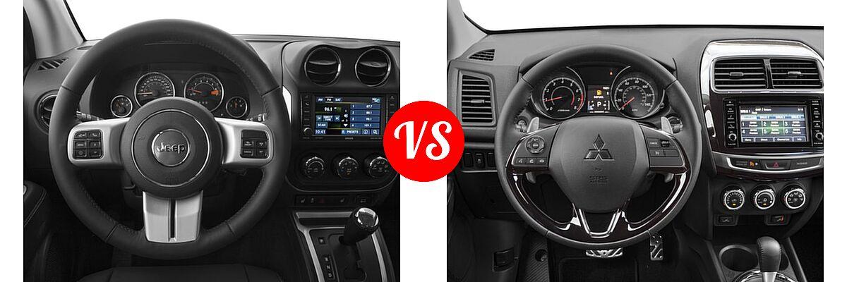 2016 Jeep Compass SUV 75th Anniversary / Latitude / Sport / Sport SE Pkg vs. 2016 Mitsubishi Outlander Sport SUV 2.4 SEL - Dashboard Comparison