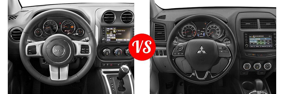 2016 Jeep Compass SUV High Altitude Edition vs. 2016 Mitsubishi Outlander Sport SUV 2.0 ES / 2.4 ES / 2.4 SE - Dashboard Comparison